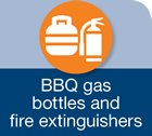 bbq gas bottles and fire extinguishers